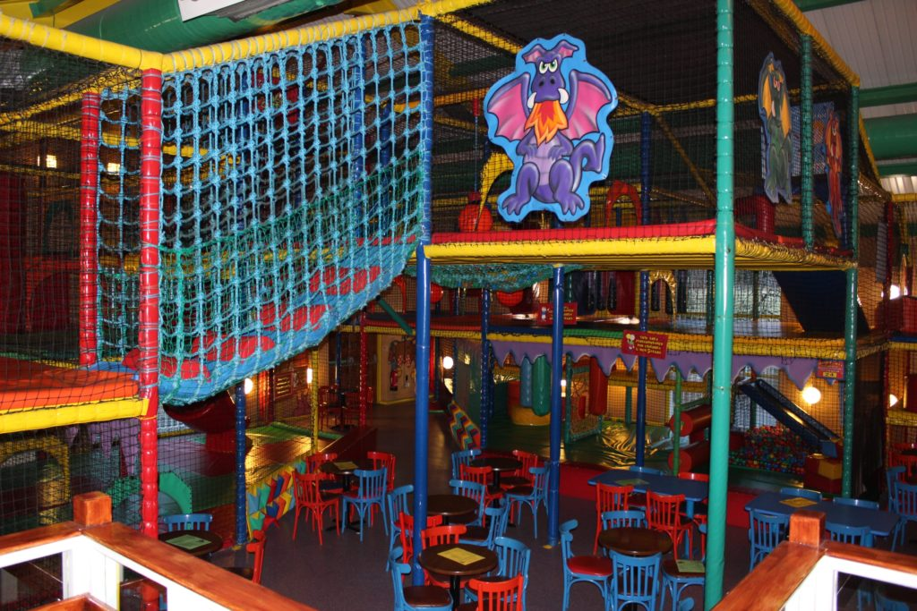 Dragons Den children's soft play area at The George and Dragon pub at at Glazebury.