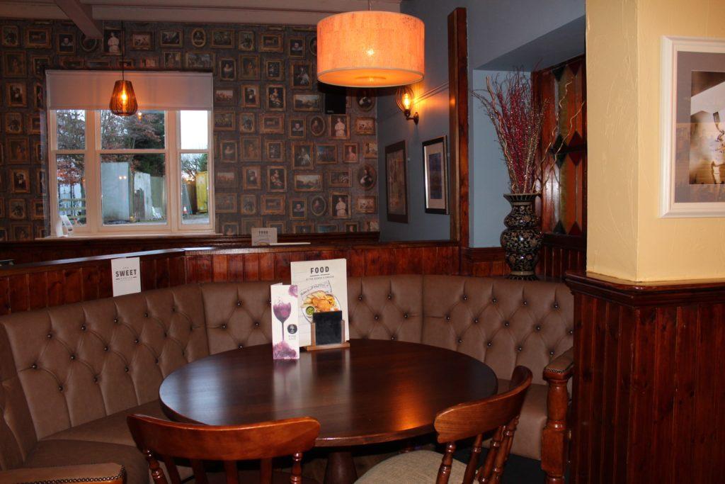 Pub interior at The George and Dragon pub at at Glazebury.